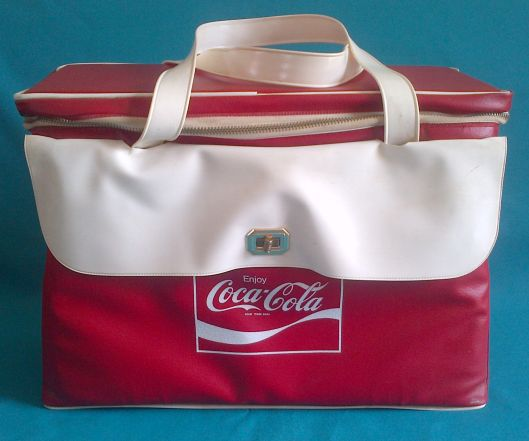 advertising very nice vintage coca cola cooler bag with bottle opener was listed for. Black Bedroom Furniture Sets. Home Design Ideas