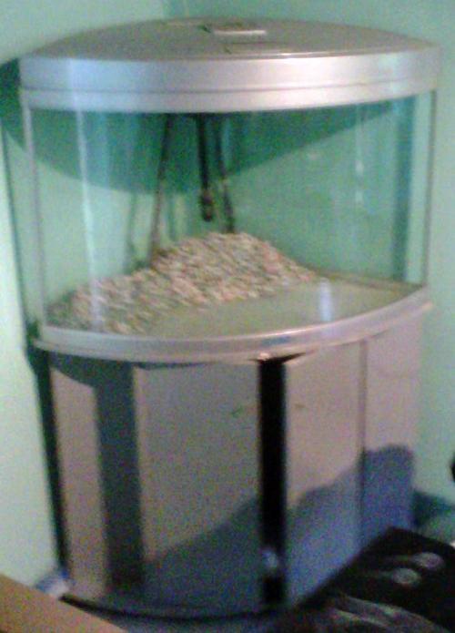 Fish tanks aquariums jebo large corner unit fishtank for Fish tank with built in filter