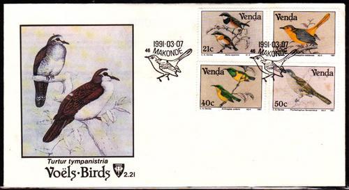 1991  FDC  cto  Birds
