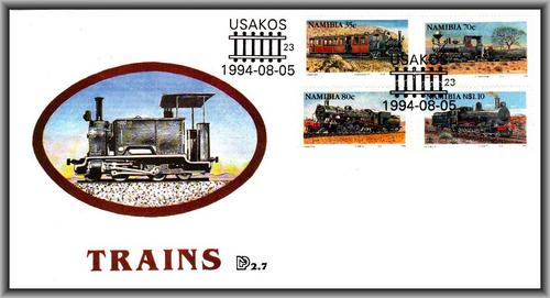 1994  FDC  USAKOS Trains