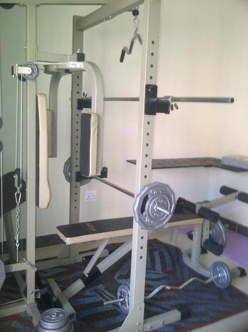 Home gyms benches trojan powercage was listed for