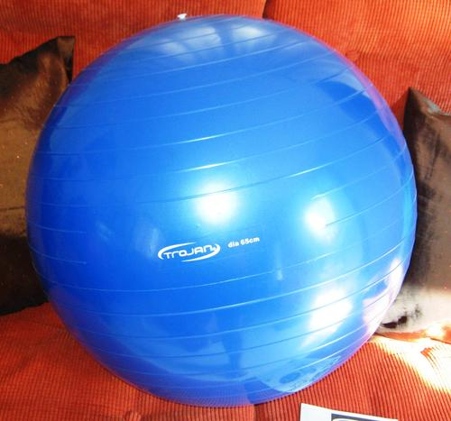 """Stability Ball Manual: LARGE BLUE """"TROJAN"""" BODY EXERCISE"""
