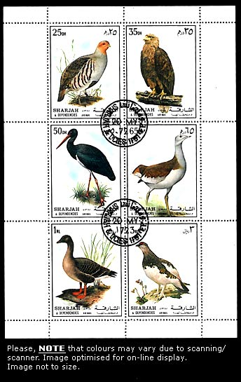 Sharjah, MNH, Bird Stamps