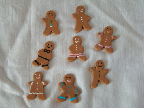 Party decor edible gingerbread men cake decorations was for 15 aug decoration