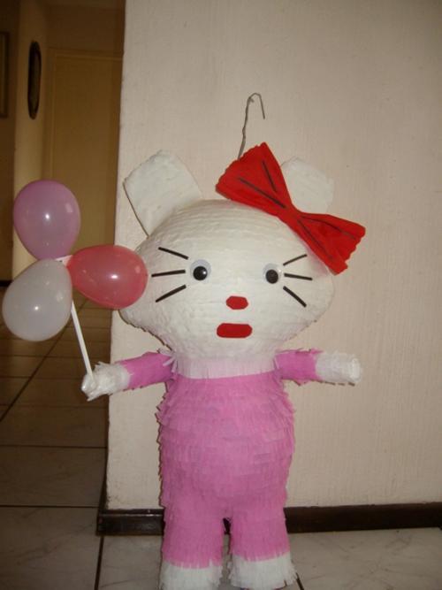 how to make a hello kitty pinata