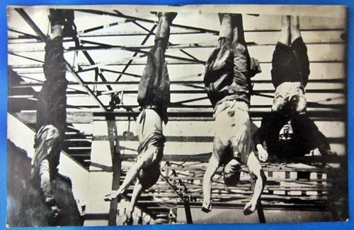 Benito Mussolini Hanging Photo Postcard 29 April 1945 In Esso Petrol