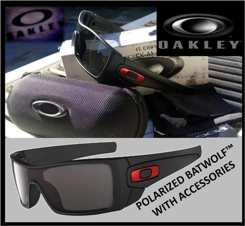 oakley batwolf polarised sunglasses  oakley batwolf polarized matte black