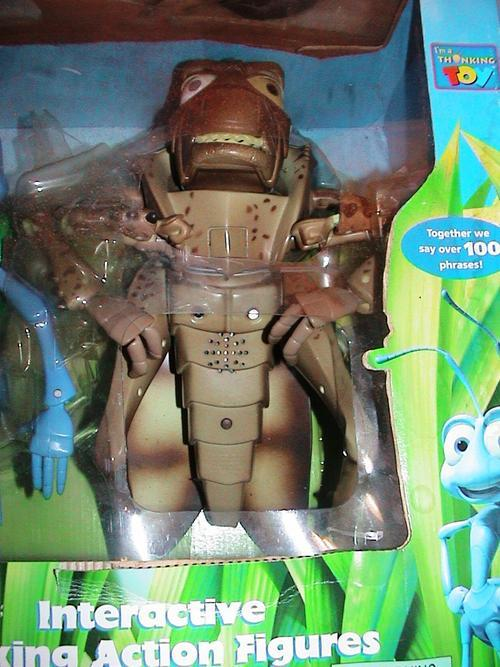A BUGS LIFE INTERACTING TALKING FIGURES FLICK AND HOPPER.