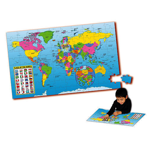 Puzzles giant 91 x 61 cm puzzle doubles map of the for 100 piece floor puzzles