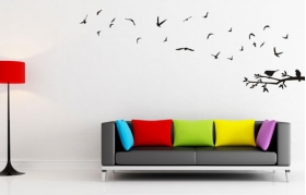 wall;art;decor;vinyl;stickers;birds
