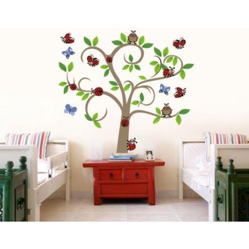 Wall Decals Wall Decal Lady Bug Tree Vinyl Wall Art