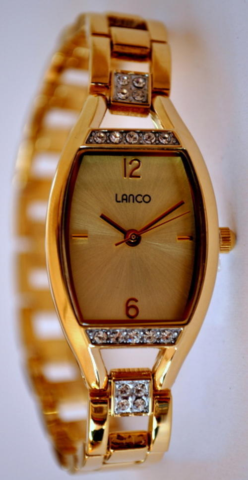 s watches lanco rectangle gold with