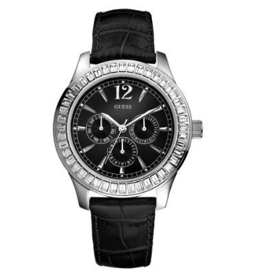 Guess Beige Dial Stainless Steel Band Watch #W0769L2 ...