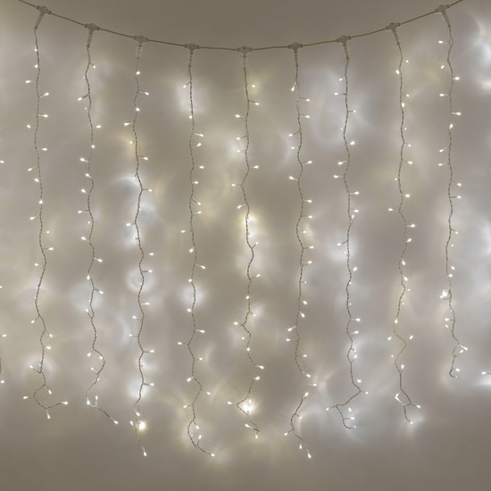 Holiday Decor - 10m 400 LED Curtain Fairy Lights in Multicolour & blue was sold for R140.00 on ...