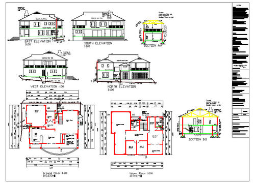 Building Plans - 2X Double Storey House Plans For The Price Of 1
