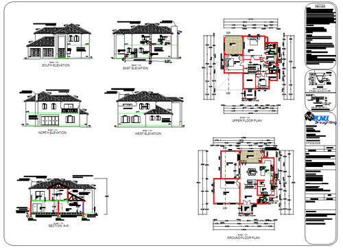 House Modern Double Story Plans - Donkiz Real Estate