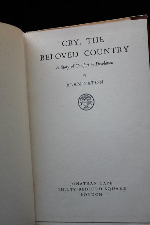 review of alan pattons cry the beloved country Watchman willie martin  damage being done to their beloved country  will be peace in our day, but the bible warns to beware when men cry.