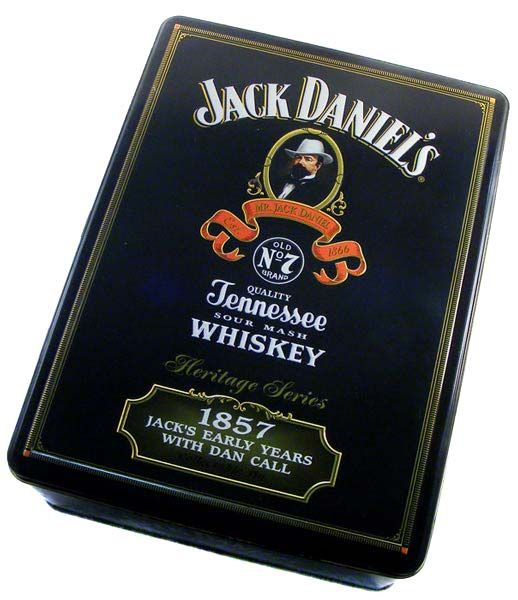 bar accessories jack daniels collector 39 s tin with glasses was sold for on 4 nov at 22. Black Bedroom Furniture Sets. Home Design Ideas