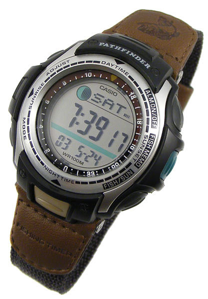 Sports outdoors watches casio pathfinder fishing timer for Casio fishing watch