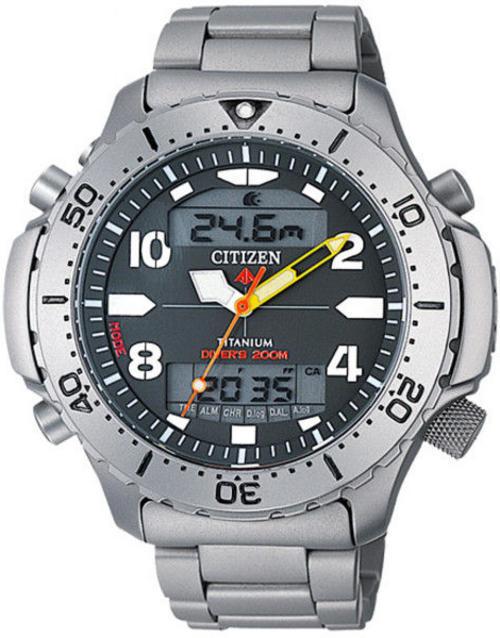 Sports outdoors watches citizen aquamount titanium scuba climber dual sensor depth dive - Citizen titanium dive watch ...