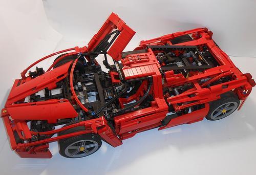 racers lego racers 8653 enzo ferrari 1 10 huge original. Black Bedroom Furniture Sets. Home Design Ideas