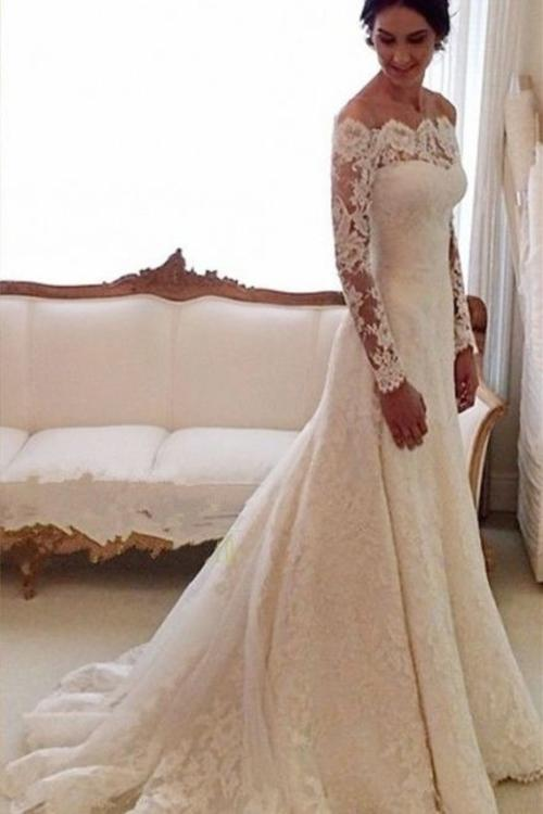 Blush Or Ivory Wedding Dresses : Wedding dresses blush bridalwear custom stunning vintage lace long
