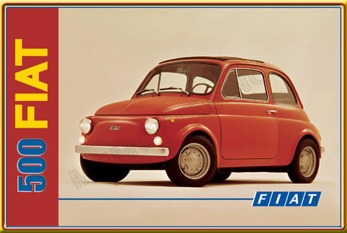 signage fiat 500 classic metal sign was listed for on 24 sep at 14 17 by. Black Bedroom Furniture Sets. Home Design Ideas