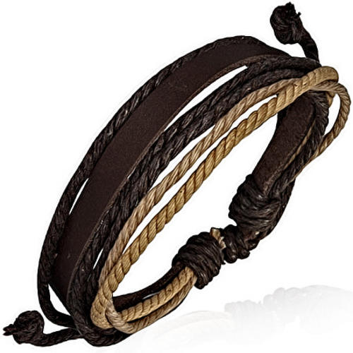 Multi Color Wrap Rope Adjustable Leather Bracelet Dazzling Jewellers