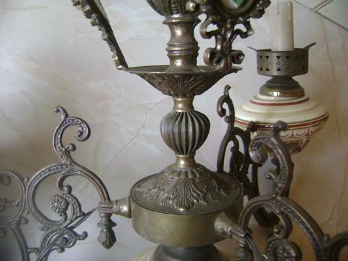 Ceiling Lighting Vintage Brass And Porcelain Ceiling
