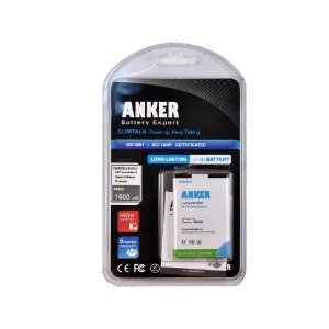 Anker 1600mAh Li-ion Battery for Nokia E52, E55, E61i, E63, E71x, E72, E72i, E90, E95 - White