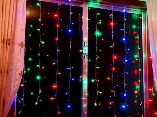 Long Curtain String Lights : Other Flowers, Celebrations & Gifts - Curtain Fairy Lights (3m Wide, 2m Long) - Multi Colour was ...