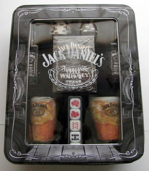 bar accessories jack daniels poker set with 2 miniature bottles was sold for on 8 jul. Black Bedroom Furniture Sets. Home Design Ideas