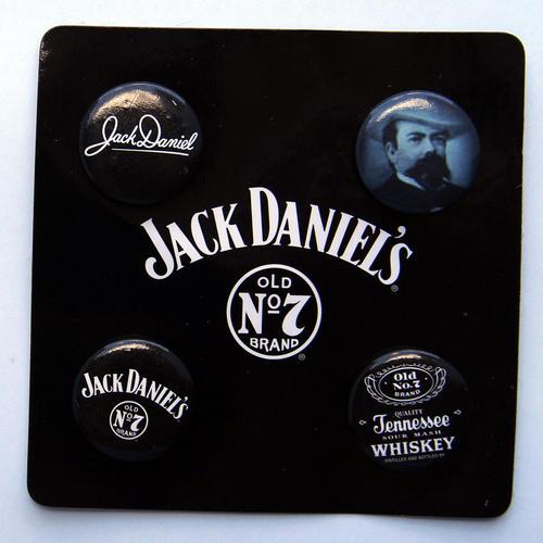 bar accessories jack daniels badges set of 4 mint on card was sold for on 6 apr at 10. Black Bedroom Furniture Sets. Home Design Ideas