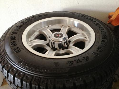 TIRES WHEELS RACING CONTI CONTACT 4 X 4