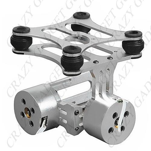Other electronics 2 axis aluminum brushless camera mount for Motorized video camera mount