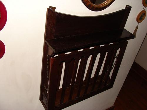 Antique Wall Mounted Magazine Rack 1900's