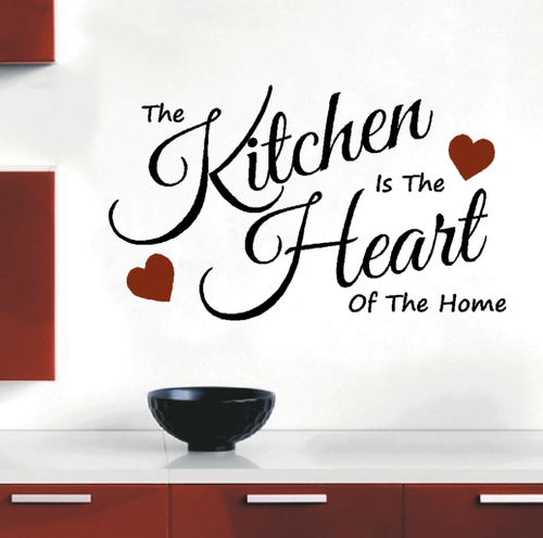 Wall Decals - Vinyl Decals Wall Art Stickers - The Kitchen Is The ...