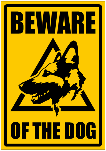 Personal Security - Security gate sign - Beware of the Dog ...