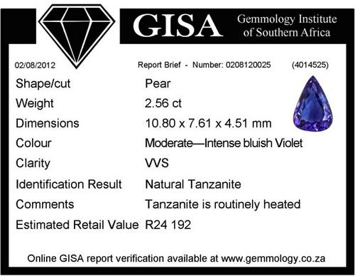 TANZANITE TANZANITE TANZANITE TANZANITE TANZANITE CERTIFIED CERTIFIED CERTIFIED TANZANITE