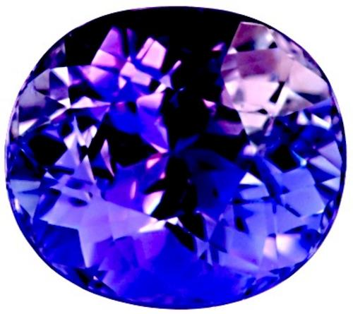 CERTIFIED VIVID EXCEPTIONAL BLUE VIOLET TANZANITE