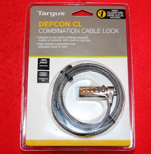 anti theft locks targus defcon cl combination cable lock was listed f. Black Bedroom Furniture Sets. Home Design Ideas