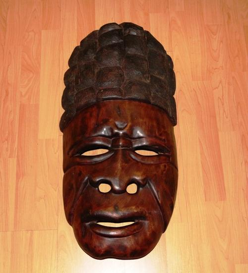 Masks wood carvings african carving mask was