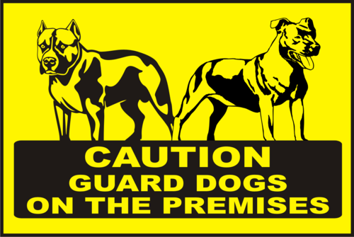 guard dog warning
