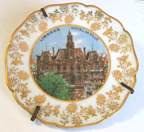 French porcelain hanging miniture plate limoges hotel for Piscine limoges