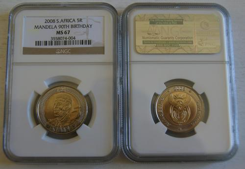 MS 67 NGC Graded - 90th Birthday R5 Coins