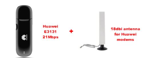 Get a Huawei E3131 21mbps