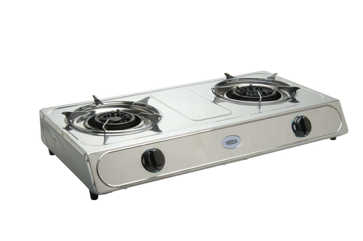 Gas Braais Cadac 2 Plate Portable Stainless Steel Stove