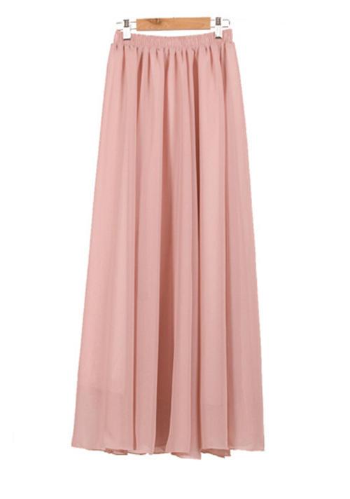 skirts skirt pink chiffon fully lined mini to