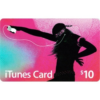 $10 itunes gift card  Prepaid Credit at US iTunes