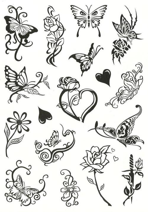 Temporary Tattoos Flowers